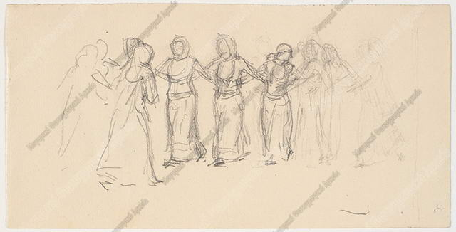Χορός Ελληνίδων γυναικών Μέγαρα 1895-1896